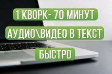 Переводу текст из аудио в текст 5 - kwork.ru