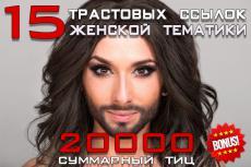 Статейные ссылки, 90 площадок. Отбирались по признаку spam меньше 15% 28 - kwork.ru