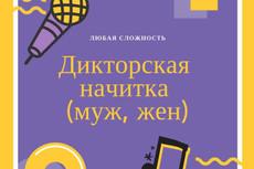 Услуга диктора 15 - kwork.ru