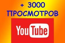 2000 просмотров видео с удержанием на YouTube 15 - kwork.ru