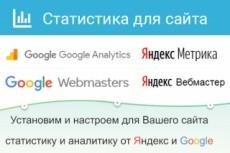 Настройка Статистики для сайта, Яндекс метрика 7 - kwork.ru