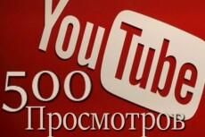 1000 Youtube просмотров с бонусами 8 - kwork.ru