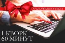 Транскрибация, перевод из аудио в текст, перевод из видео в текст 3 - kwork.ru