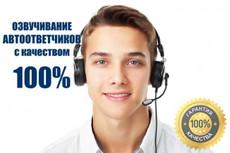 Запишу мужской голос для автоответчика 7 - kwork.ru