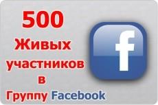 1000+ живых участников в группу Facebook 10 - kwork.ru
