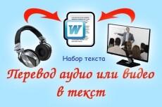 Набор текста из любого источника,перевод из аудио/видео в текст 8 - kwork.ru