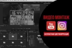 Видеомонтаж, обработка видео. Бесплатная цветокоррекция 5 - kwork.ru