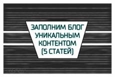 Наполнение сайта контентом (5 статей) 15 - kwork.ru