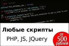 Напишу скрипт на PHP, JavaScript, MySQL 16 - kwork.ru
