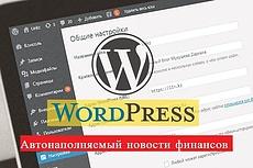 Автонаполняемый новостной сайт на WordPress 14 - kwork.ru