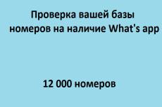 Найду номера whatsapp среди ваших контактов или базы данных 13 - kwork.ru