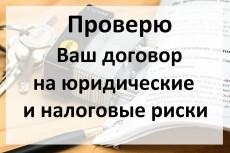 Юридическая помощь по налоговым вопросам 7 - kwork.ru
