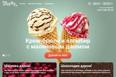 Верстка одного экрана сайта по psd макету 20 - kwork.ru