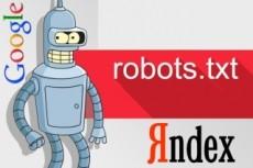 Настройка robots.txt; sitemap.xml; панели вебмастера (Яндекс, Google) 12 - kwork.ru