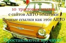 25 ссылок авто тематики 13 - kwork.ru
