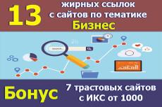 Крауд ссылки выгруженные из Ahrefs. 5 Жирных ссылок ваших конкурентов 8 - kwork.ru