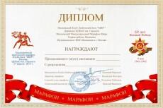 Дипломы, сертификаты, открытки, приглашения 14 - kwork.ru