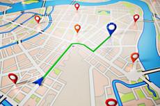 Анимация по карте - маршрут пути по карте - схема проезда 5 - kwork.ru