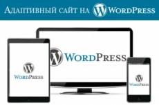 Сделаю адаптивный сайт на wordpress 16 - kwork.ru