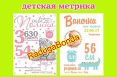 Метрика, детская метрика 5 - kwork.ru