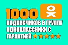 1000 + 100 участников в Одноклассниках 7 - kwork.ru