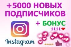 5000 русских подписчиков в Инстаграм. Раскрутка в instagram 30 - kwork.ru