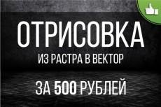 Векторный портрет 24 - kwork.ru