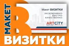 Изготавливаю макет визиток 13 - kwork.ru