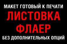 Создам макет флаера 127 - kwork.ru