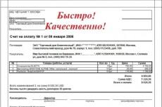 Выпишу счет на оплату и первичную документацию 17 - kwork.ru