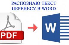 Переведу PDF в Word 9 - kwork.ru