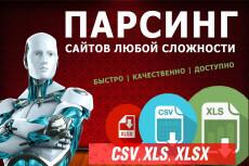 Настройка проекта парсинга Content Downloader 8 - kwork.ru
