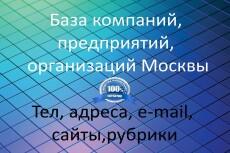 База компаний, предприятий, организаций. Воронежская область 14 - kwork.ru