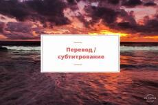 Выполню перевод с видео, аудио, субтитры 10 - kwork.ru