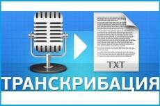 Транскрибация, перевод из аудио в текст,перевод из видео в текст 3 - kwork.ru