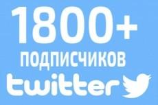 1000 Подписчиков/фолловеров на Вашу страницу Твиттер 4 - kwork.ru