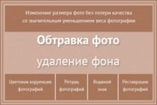 Сделаю обтравку фона+ретушь 20 - kwork.ru