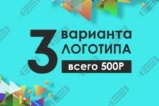 Разработаю 3 варианта логотипа компании 20 - kwork.ru