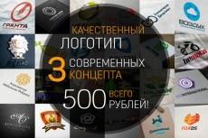 Сделаю логотип в трех вариантах 211 - kwork.ru