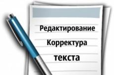 Редактура и корректировка текста 13 - kwork.ru