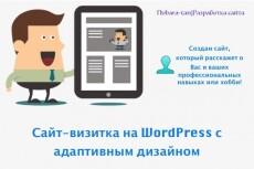 Создам сайт на WordPress. Качественно и быстро 3 - kwork.ru