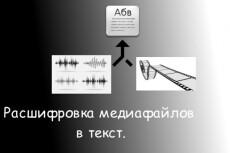 Расшифровка аудио видеозаписей, опыт работы 2 года, конфиденциально 7 - kwork.ru