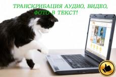 Транскрибация, перевод из аудио, видео, фото, скан в Word 7 - kwork.ru