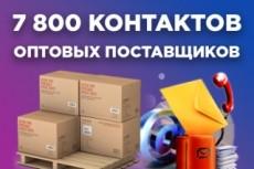 100 дропшиппинг поставщиков + 500 оптовых + 3 бонуса 21 - kwork.ru