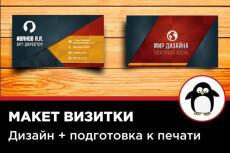 Дизайн макет визитки 39 - kwork.ru