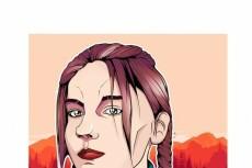 Нарисую ваш портрет в стиле комикса 11 - kwork.ru