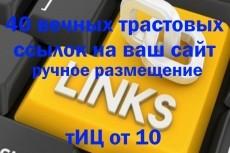 17 вечных ссылок с трастовых сайтов. Высокий тиц показатель 15 - kwork.ru