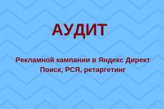 Аудит рк в Яндекс.Директ с описанием ошибок. Только факты 18 - kwork.ru