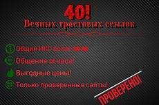 40 вечных ссылок с трастовых сайтов, общий ИКС более 300000 20 - kwork.ru