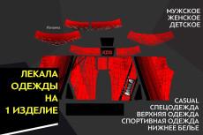 Технический эскиз одежды 23 - kwork.ru